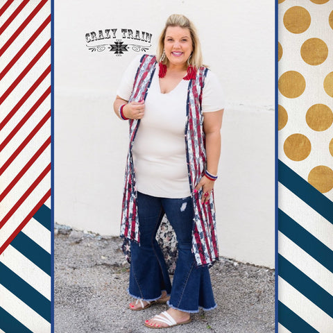 """Liberty Lace""-Reversible Lace Duster-Chic Picks"