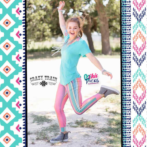Crazy Train-Top Dog Joggers-Serape Lounge Joggers-Chic Picks