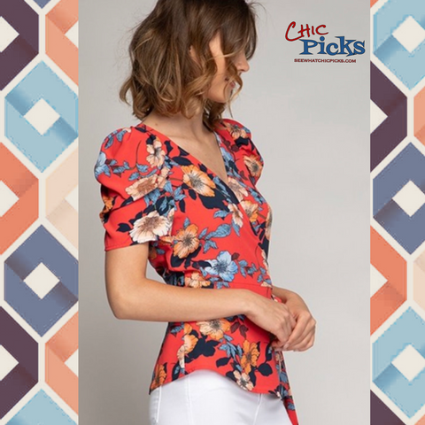 """The Puffy Shirt""-Short Sleeve Top-Chic Picks"