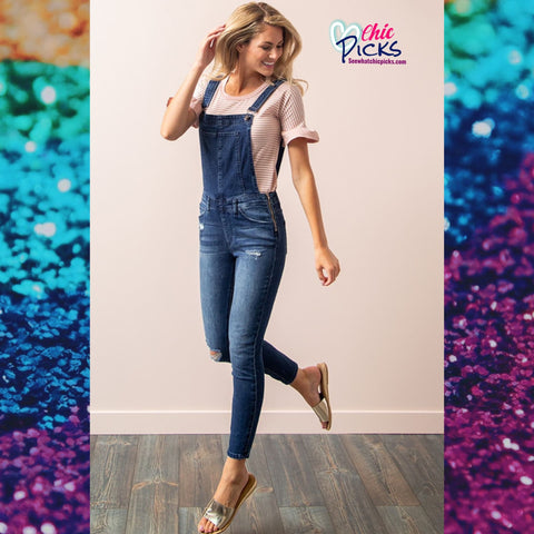 "KanCan-""KanCan't Live Without Them Overalls""-Overalls with side zip-Chic Picks"