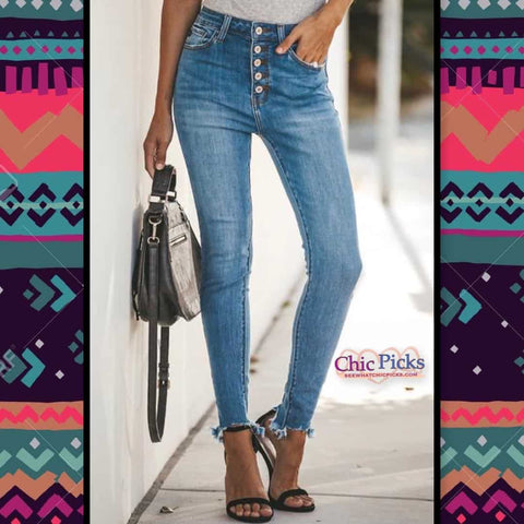 KanCan Light Wash high rise Denim Skinny Jeans women's fashion Jeans at chic picks boutique