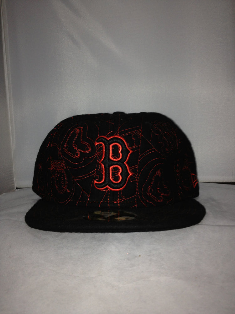 6ad3b9624bd NEW ERA BOSTON RED SOX FITTED BLACK RED 334