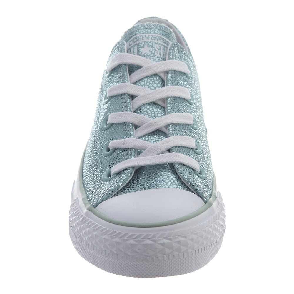 Converse All Star Ox Basketball Shoe Womens Style   553347c-Metallic  Glacier White  40346a61c