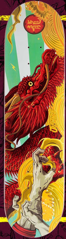 "Justice Skateboards ""DRAGON"" size 8""+LIJA"