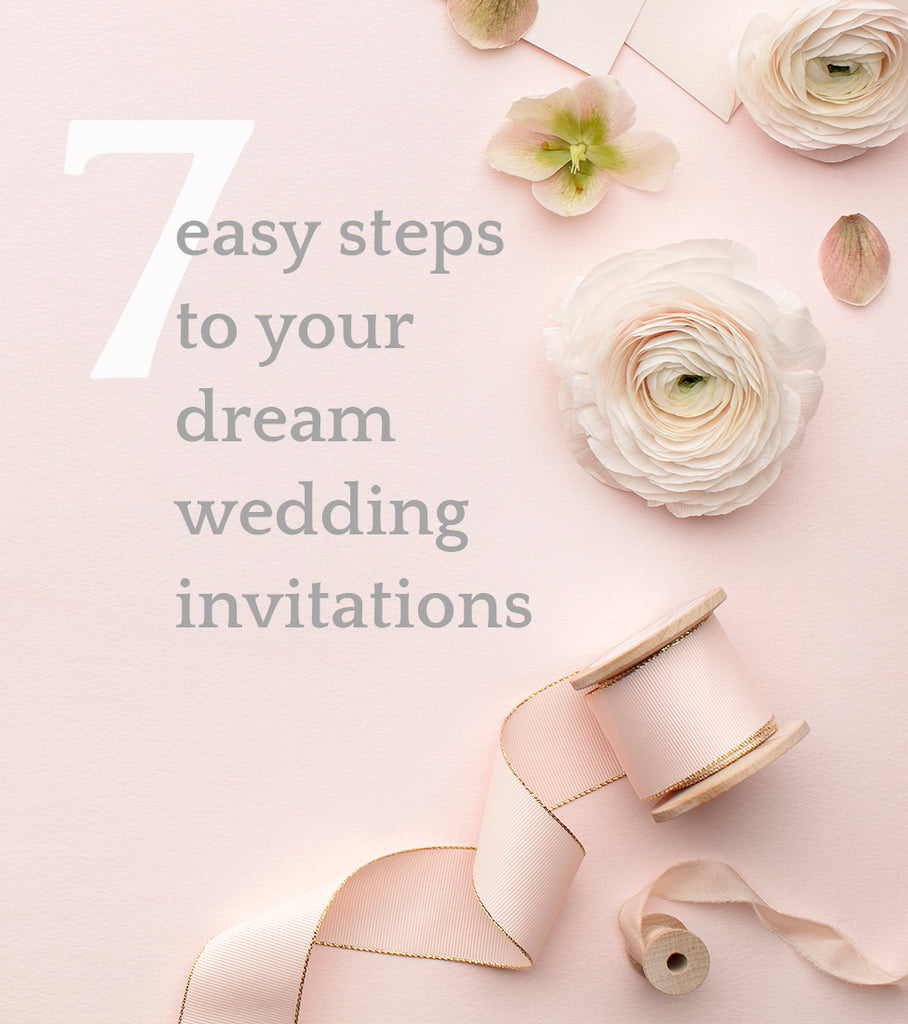 seven easy steps to your dream wedding invitations by JesMarried