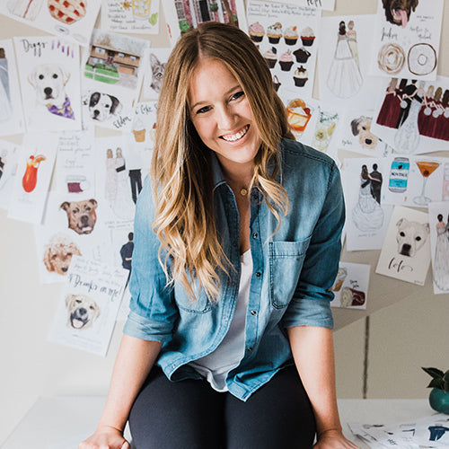 Jessica McGinley, designer and illustrator of JesMarried