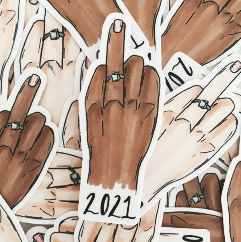 JesMarried ring finger sticker 2021 bride