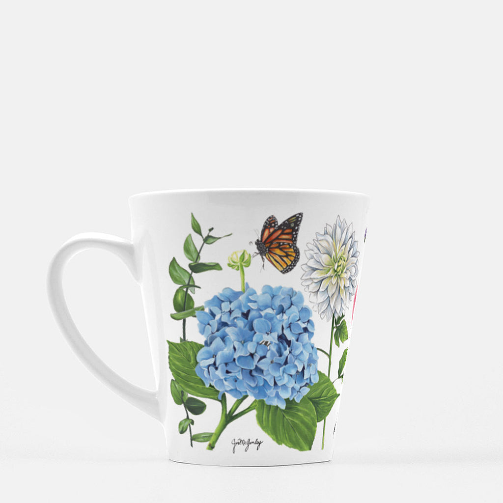 Garden Party Latte Mug by JesMarried