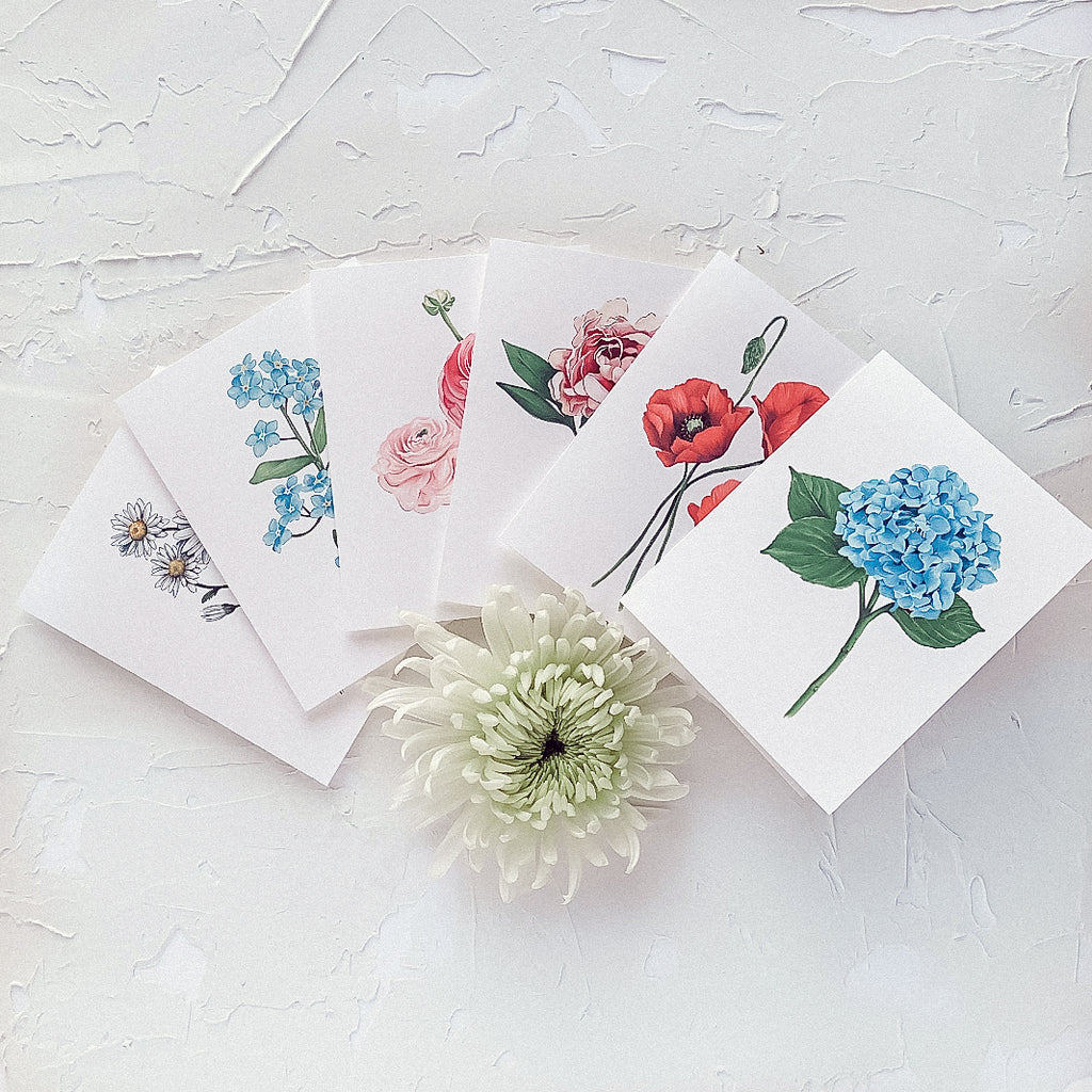 Bouquet of Flowers Greeting Card Box Set of 6