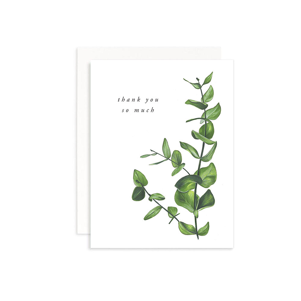 Thank You So Much Eucalyptus Greeting Card