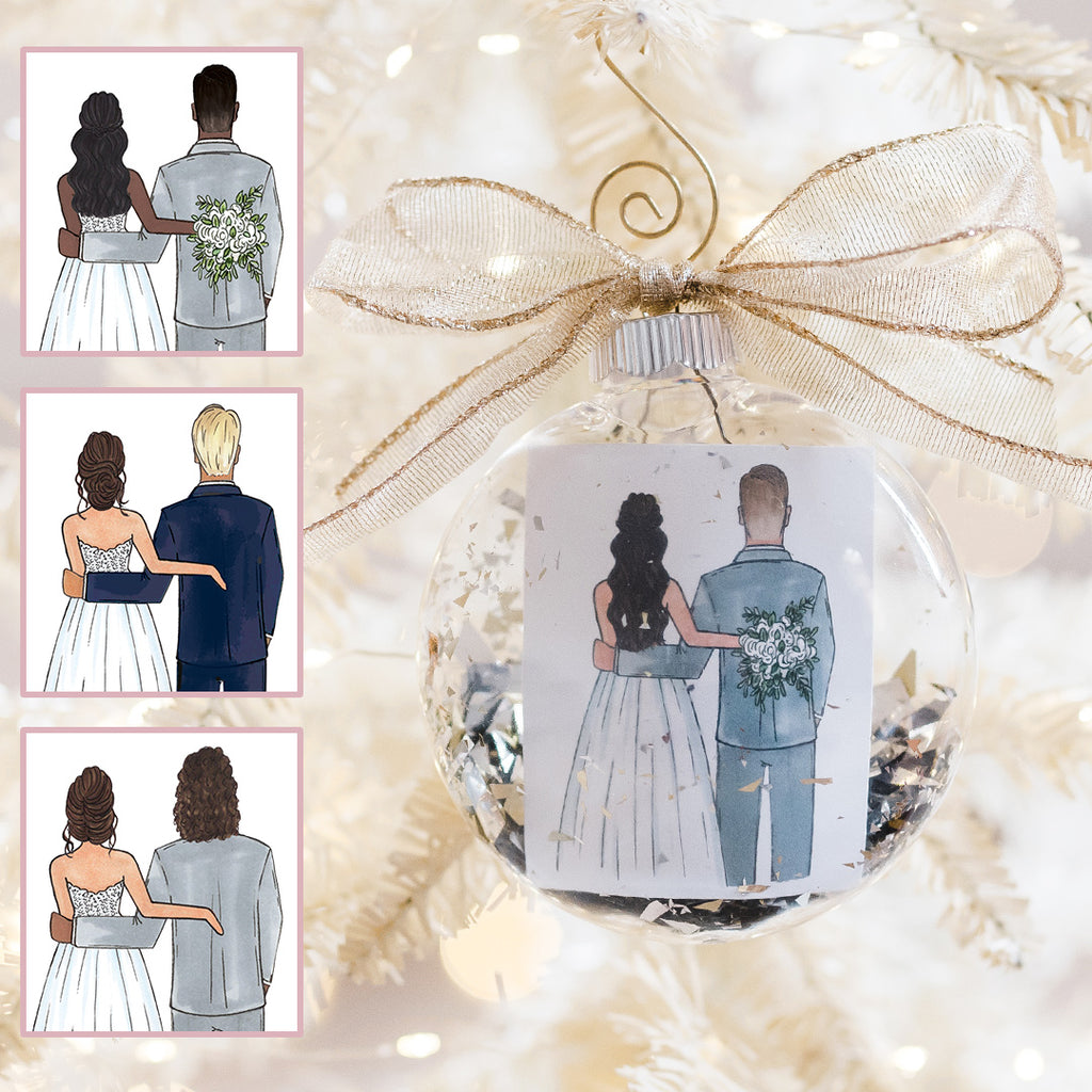 custom brother of the bride or best man or bridesman christmas ornament from bride to brother