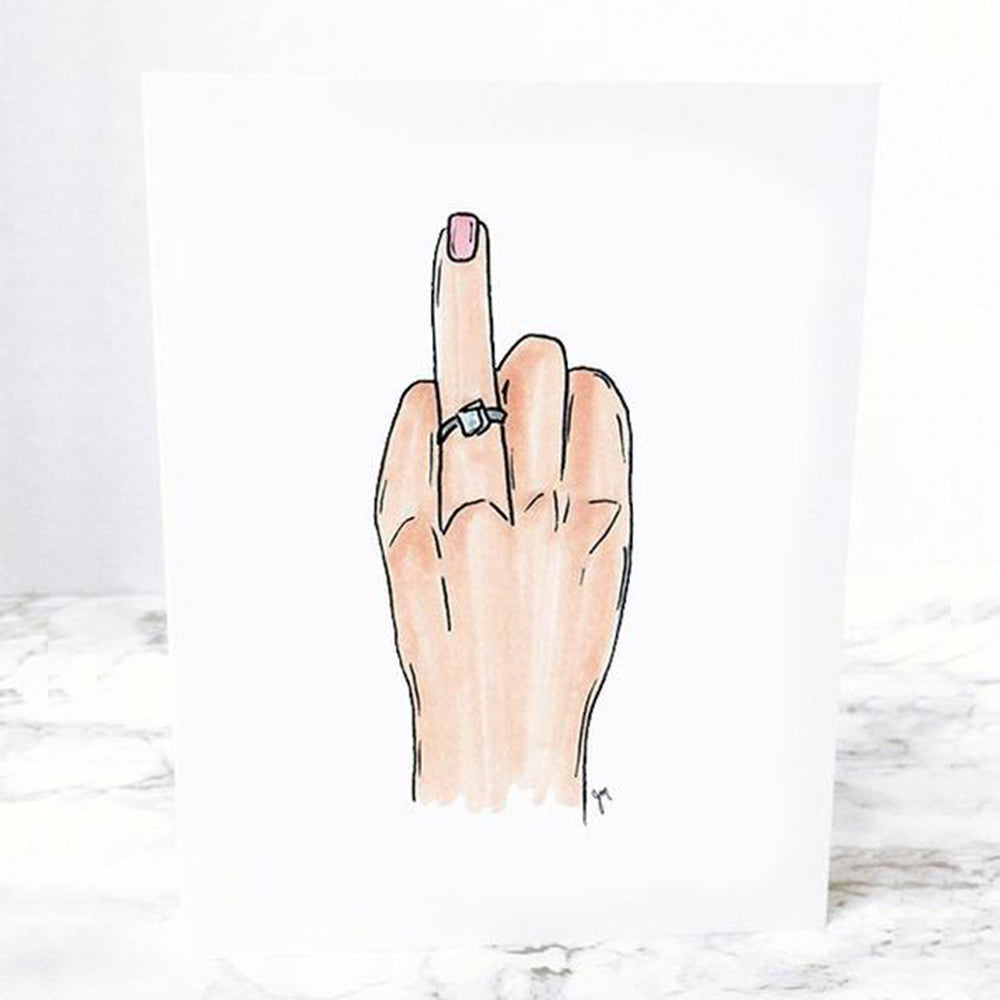 Ring Finger Engagement Notecard perfect for a bride for a bridal shower by JesMarried