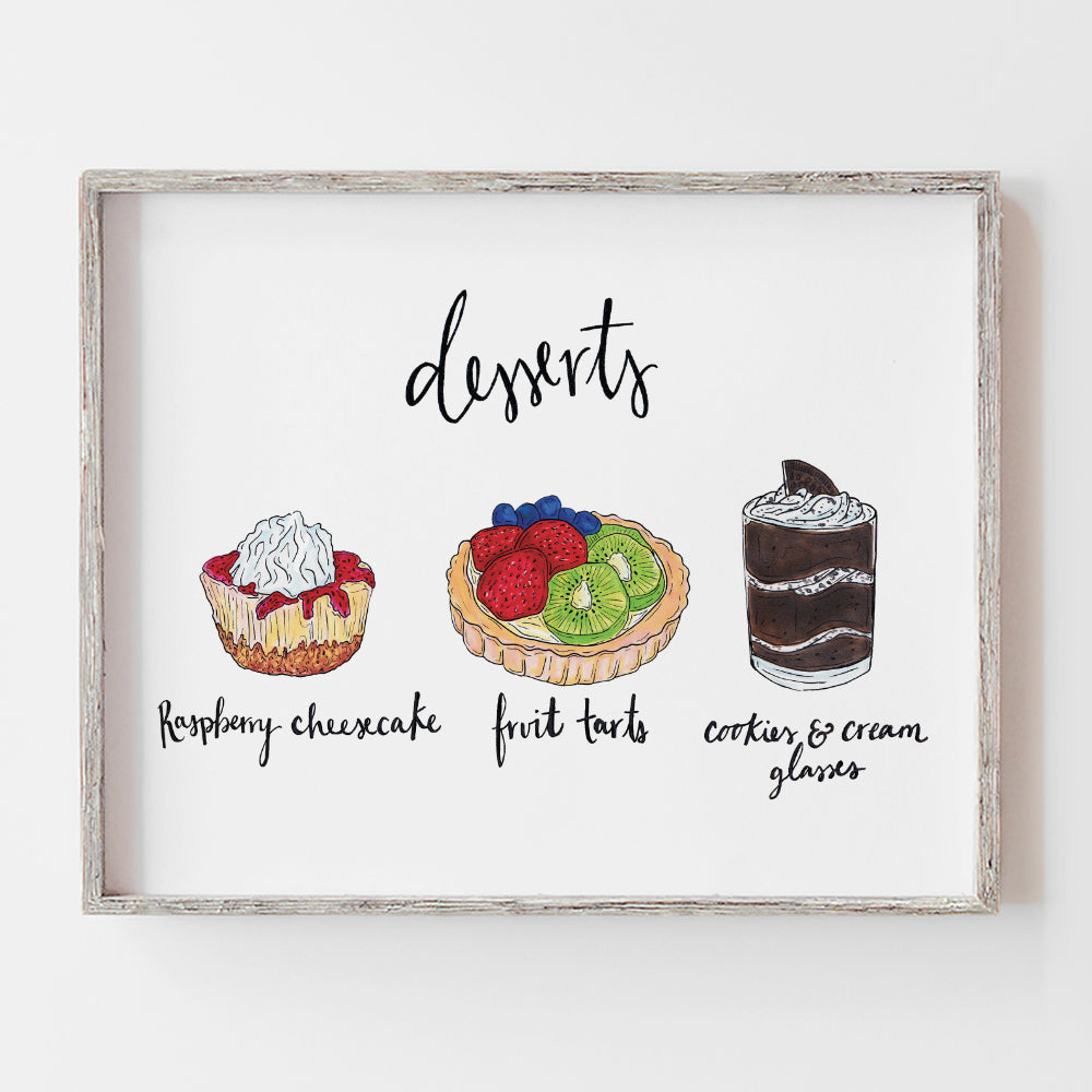 Custom dessert flavor wedding sign perfect for a dessert table at your reception by JesMarried