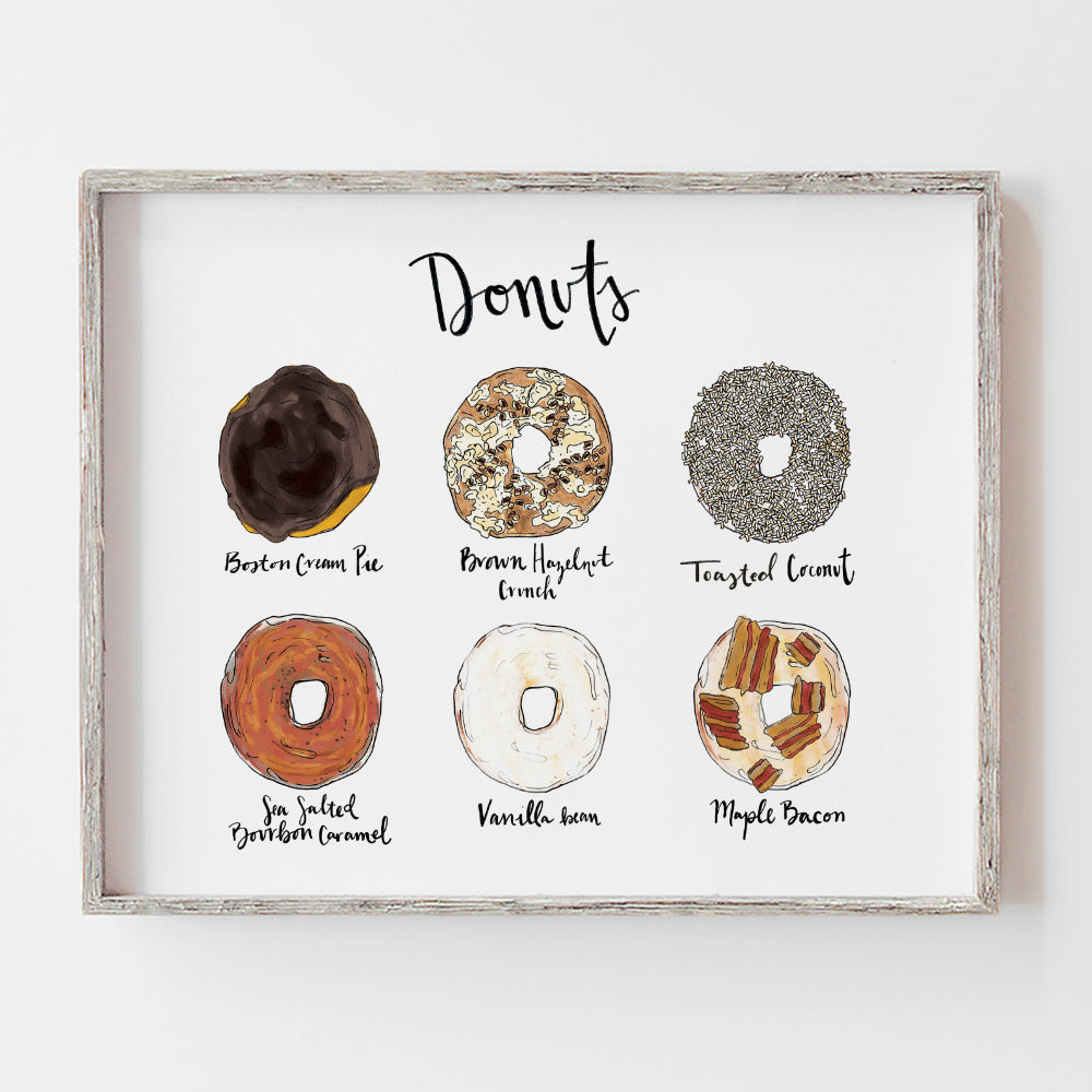 Custom donut flavor wedding sign perfect for a donut bar at your reception by JesMarried