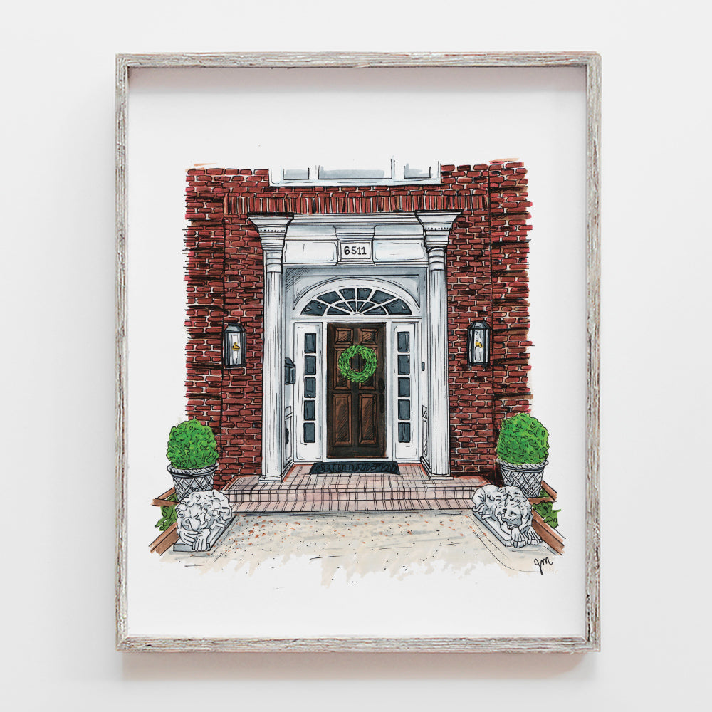 Custom drawing of your front door of your house by JesMarried