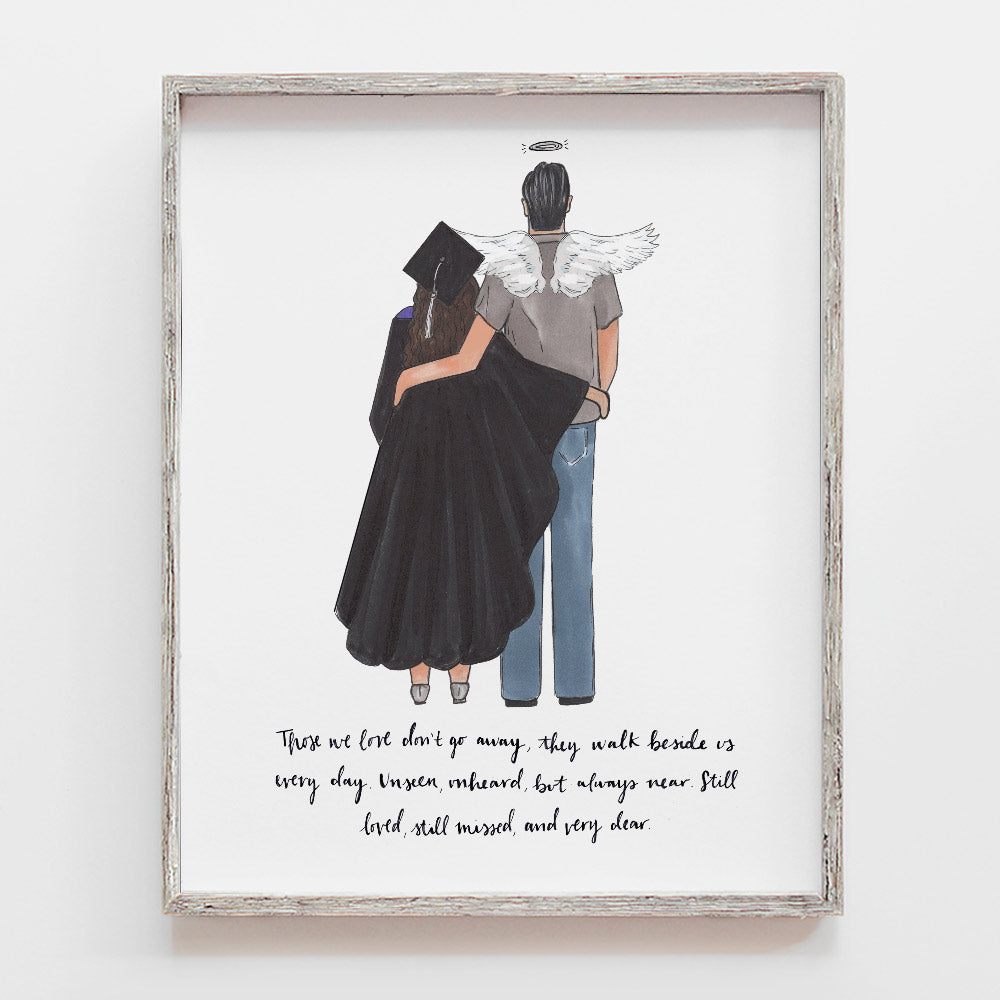 Custom Graduation Remembrance Drawing