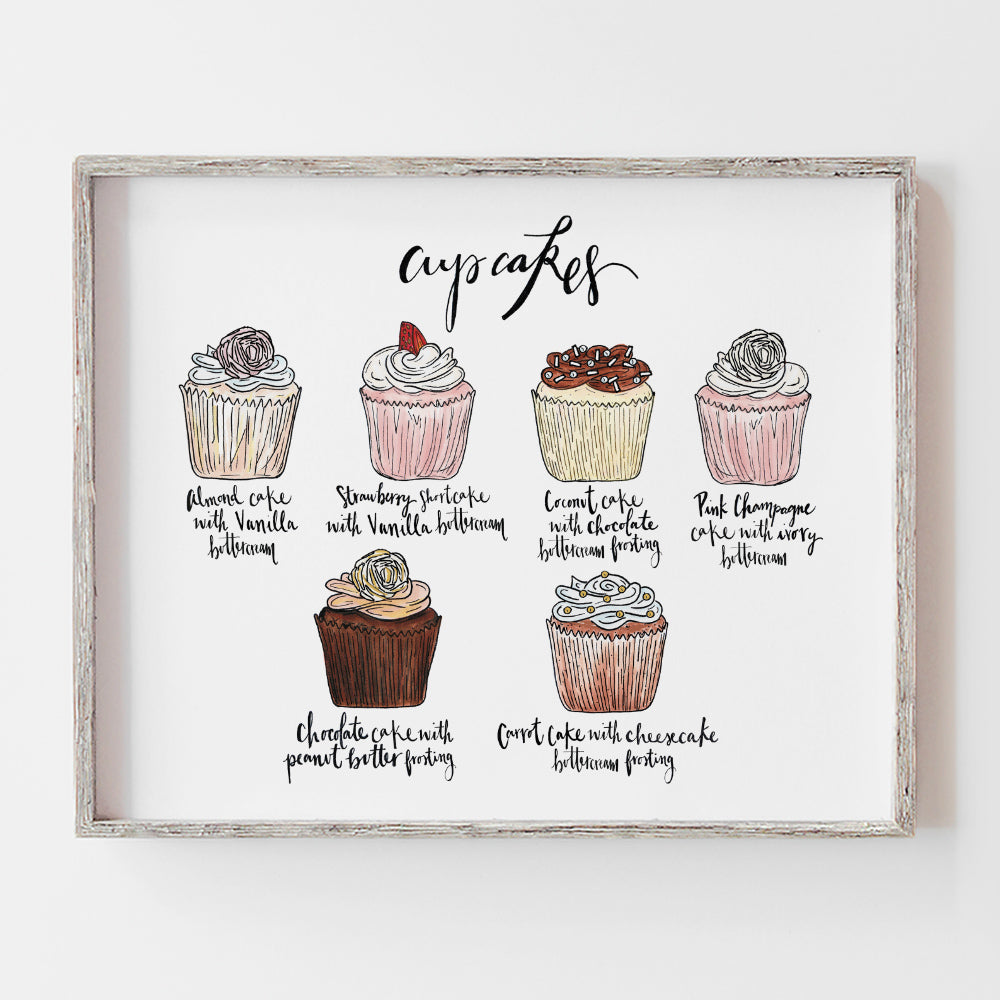 Custom cupcake flavor wedding sign perfect for a cupcake table at your reception by JesMarried