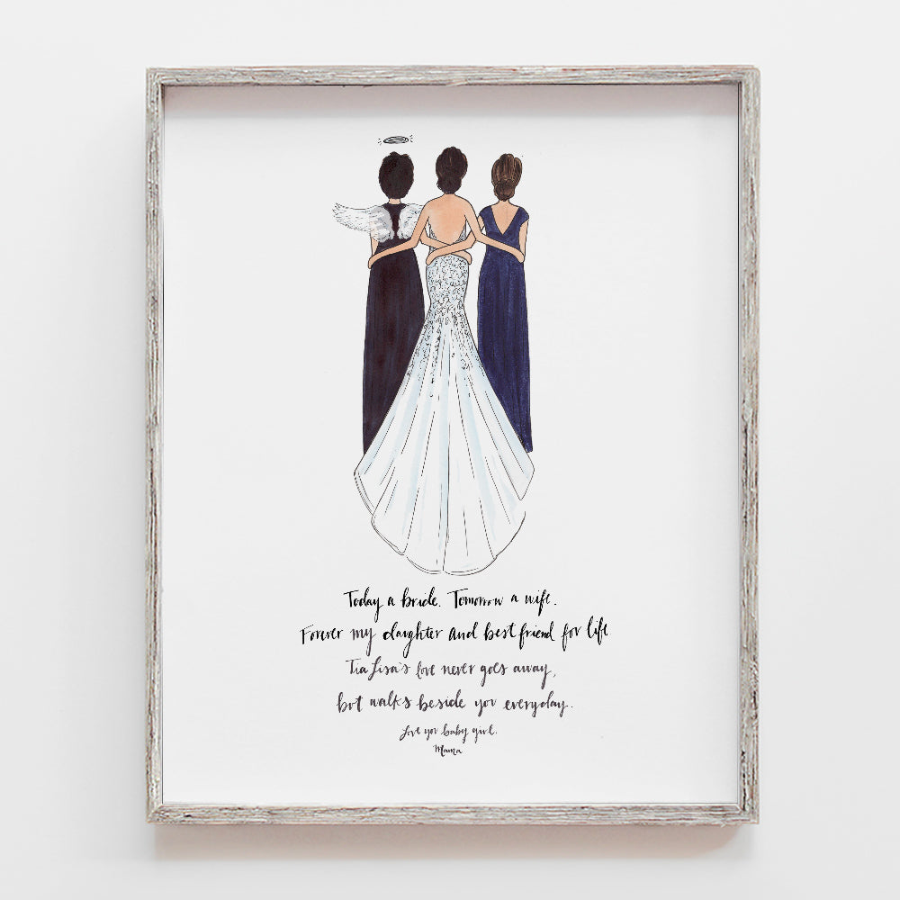 Custom Remembrance Bridal Drawing