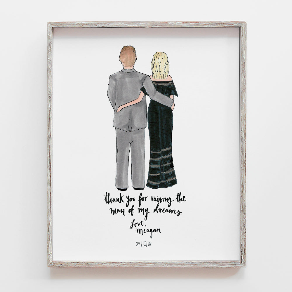 Custom Mother of the Groom Drawing
