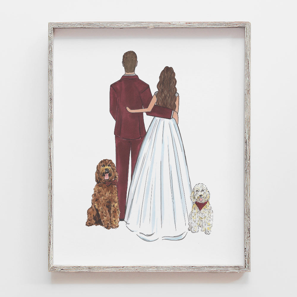 Custom Bride and Groom Drawing