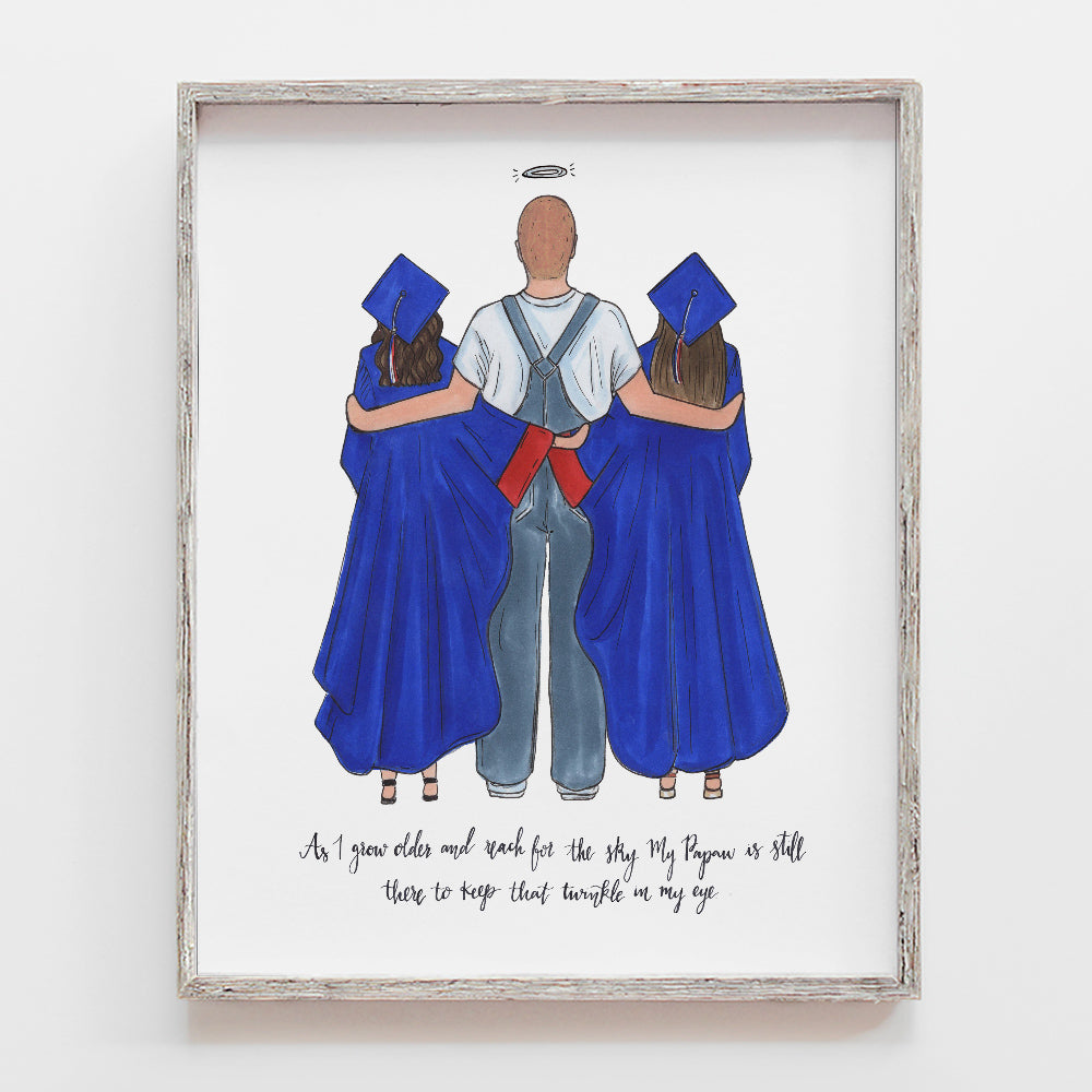 custom remembrance graduation drawing