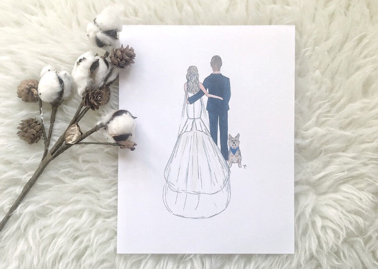 bride and groom portrait by JesMarried