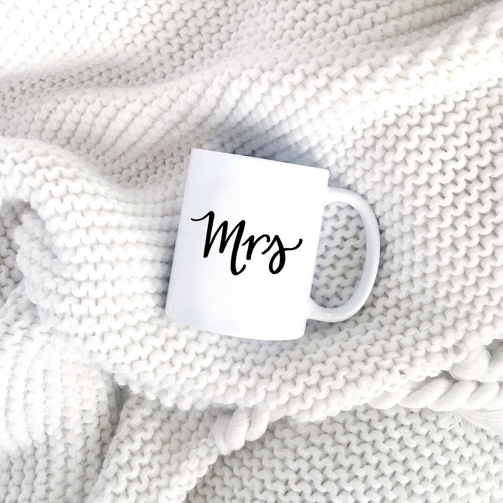 Mrs mug for the bride or wife by JesMarried