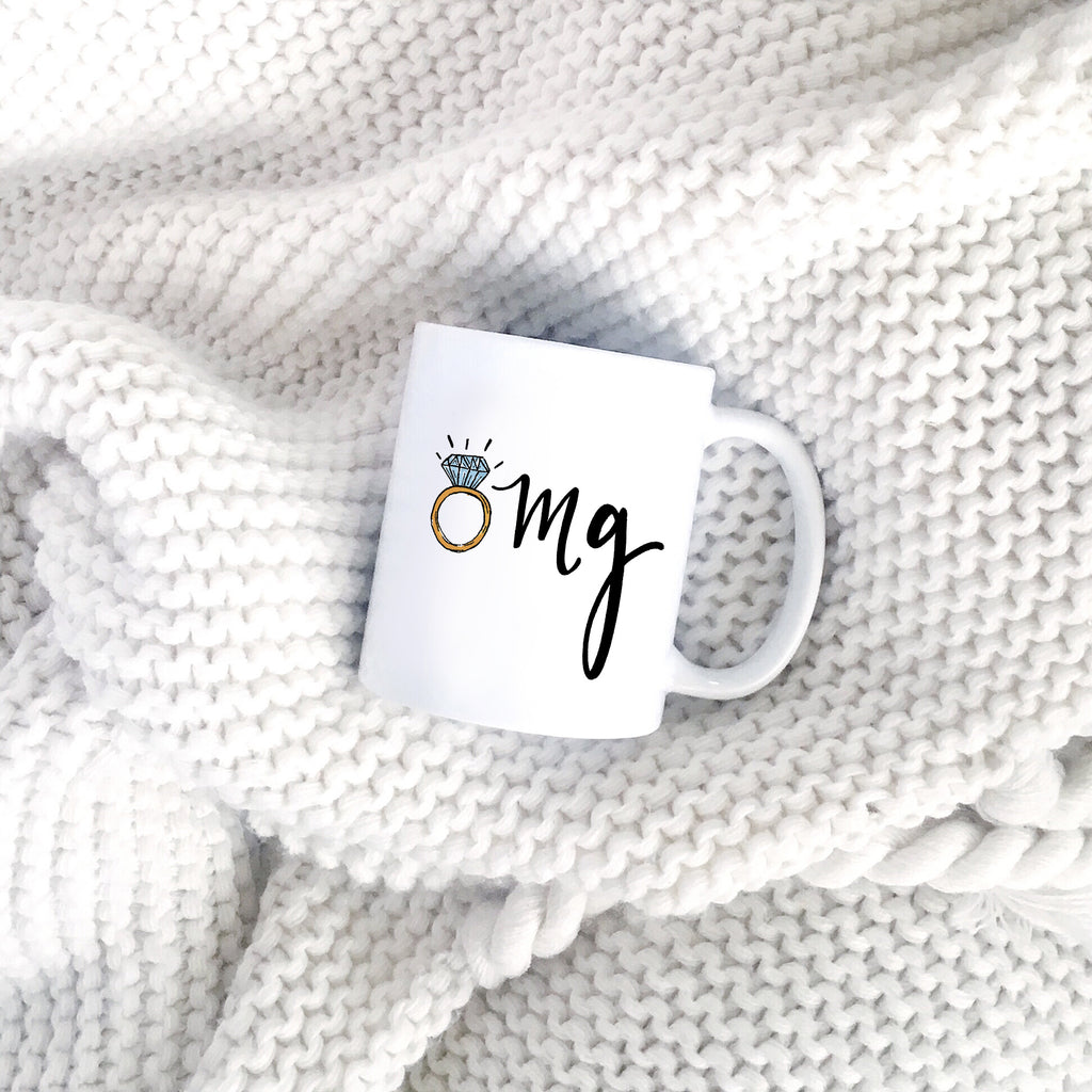omg im getting married engaged mug by jesmarried