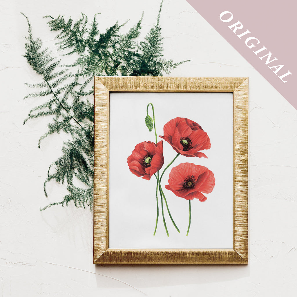 ORIGINAL - Red Poppies Flower