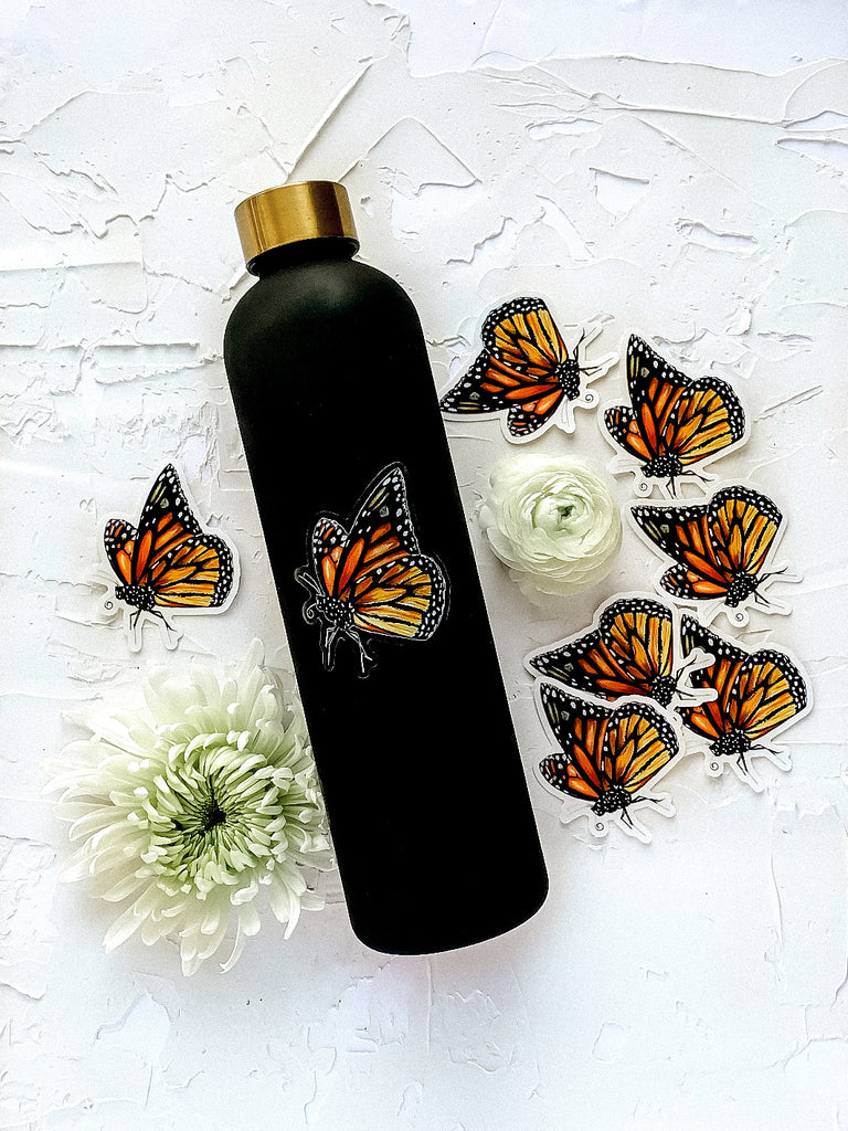 Clear Monarch Butterfly Sticker