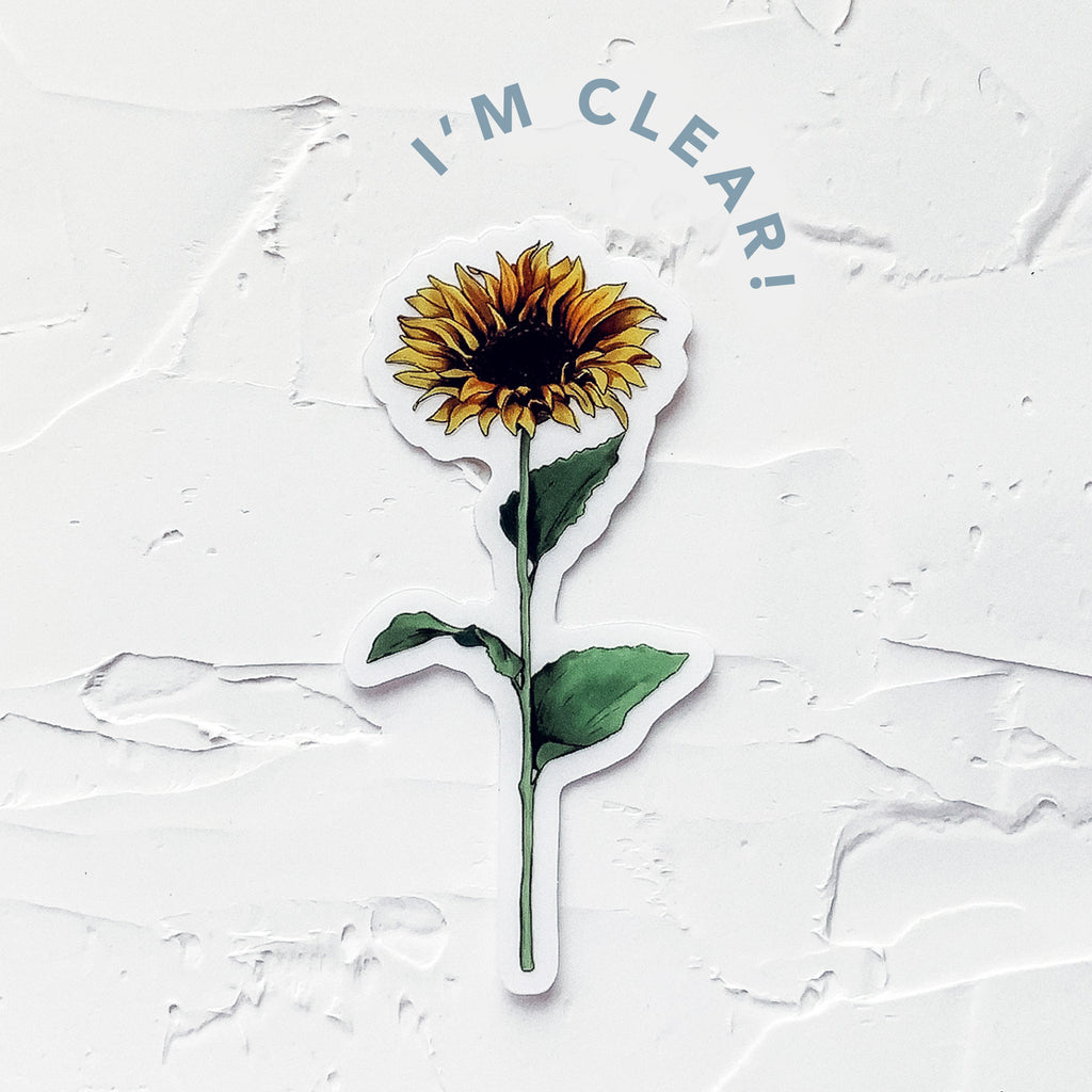 clear sunflower sticker marker drawing by JesMarried