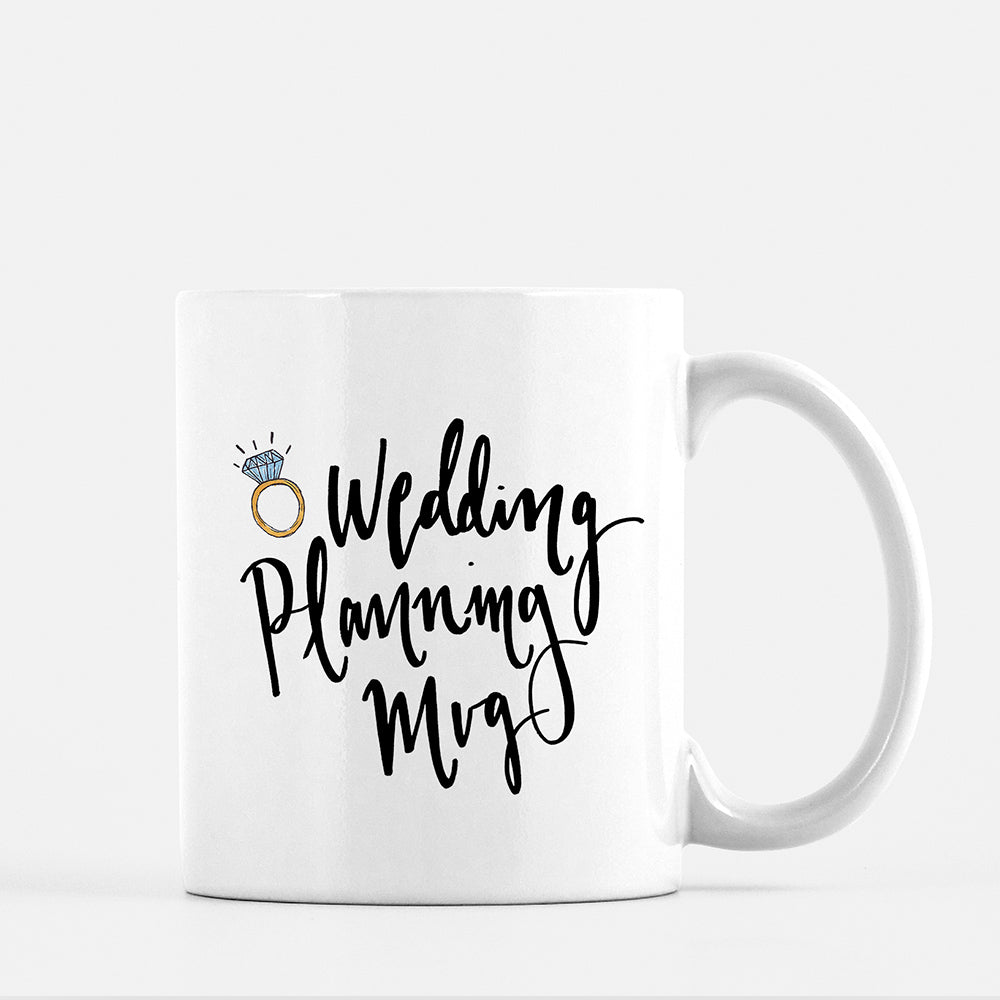 wedding planning mug for brides when they get engaged by JesMarried