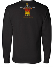 Load image into Gallery viewer, BAD BY NATURE-SKULL AND BONES LOGO: MEN'S CHAMPION LONG SLEEVE SHIRT
