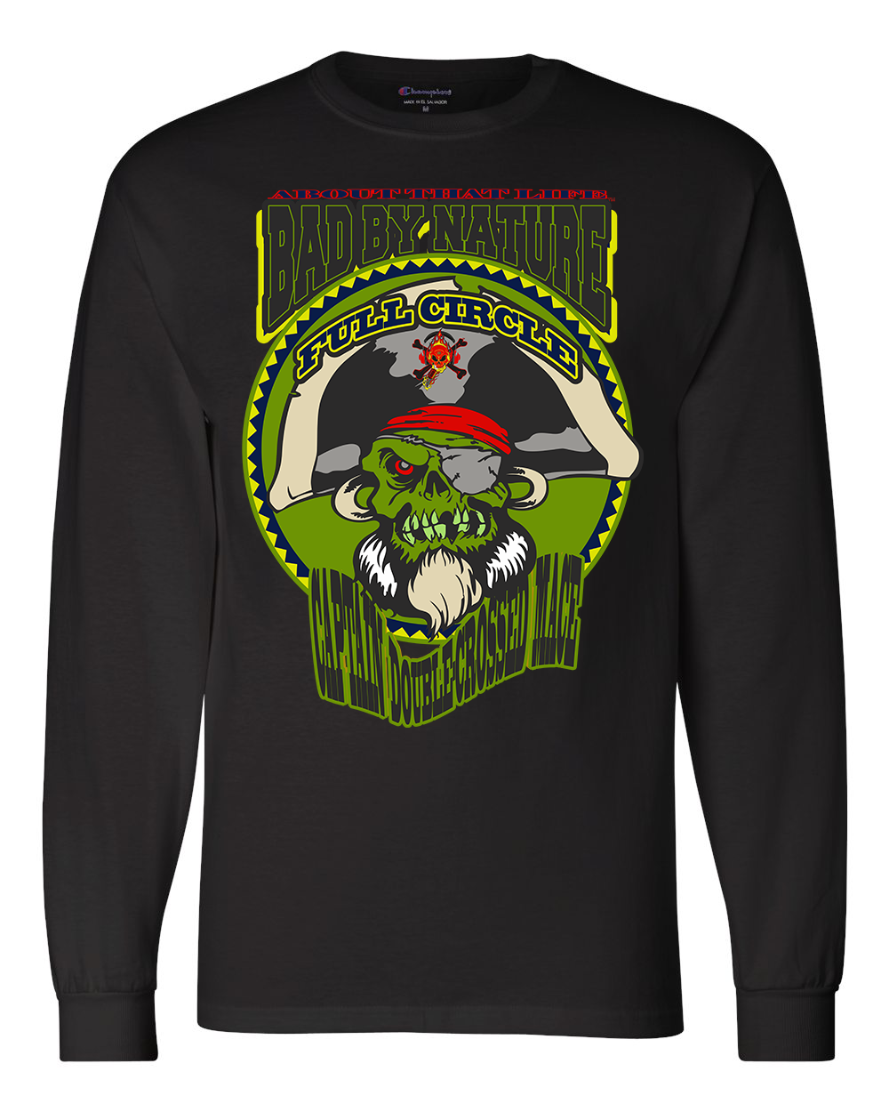 CAPTAIN DOUBLE-CROSSED MACE: MEN'S CHAMPION LONG SLEEVE SHIRT