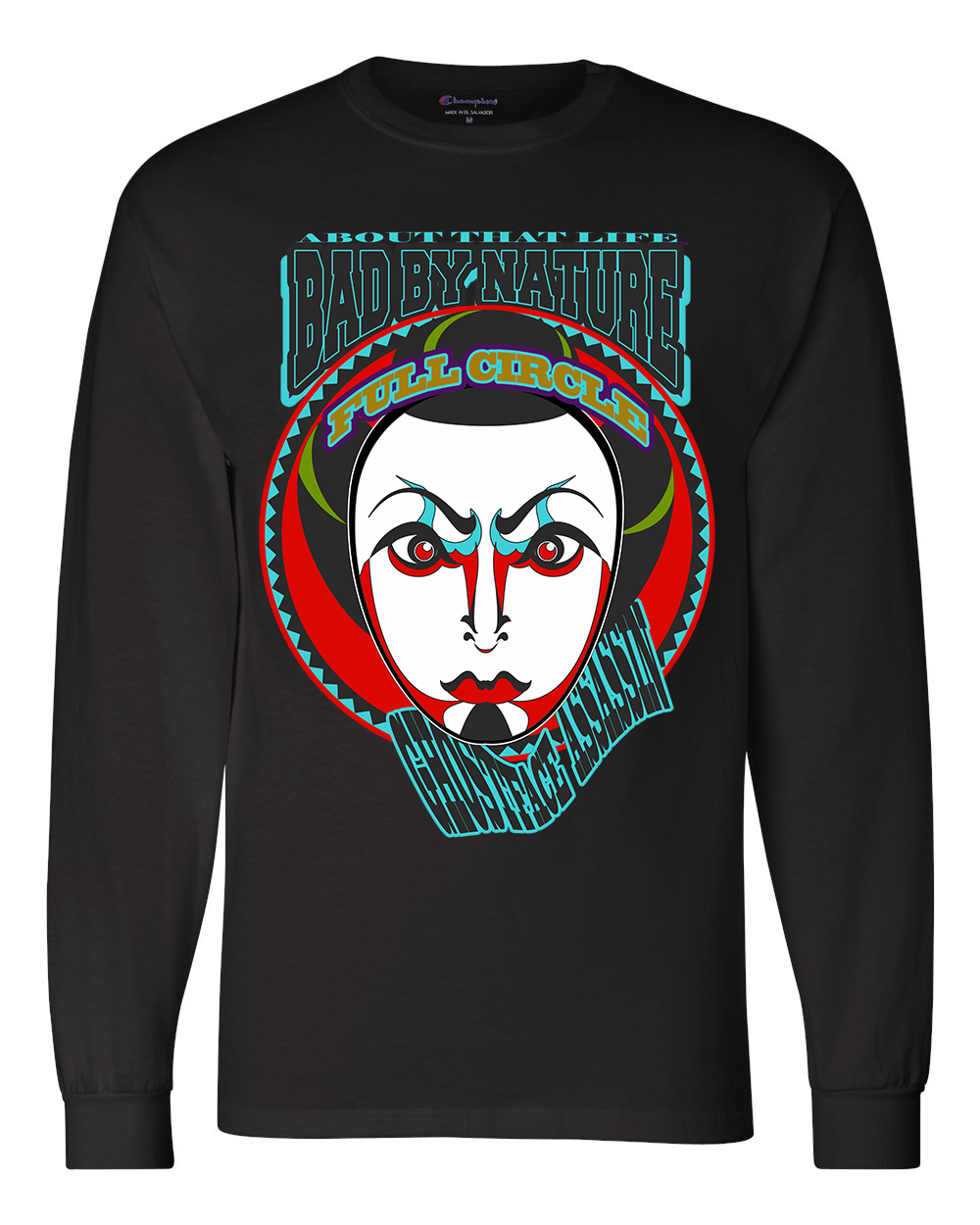 GHOSTFACE ASSASSIN: MEN'S CHAMPION LONG SLEEVE SHIRT