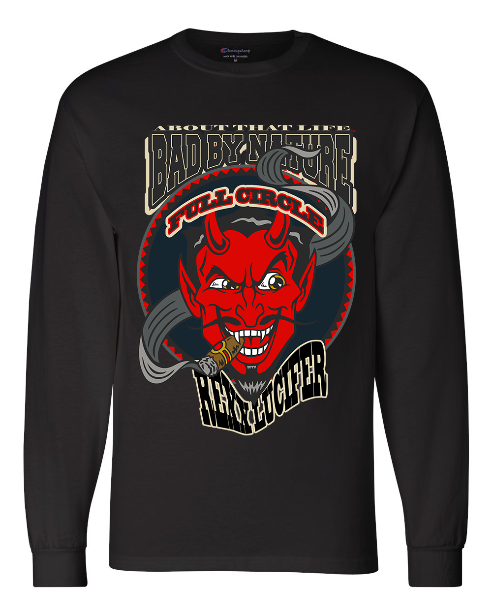 REXX LUCIFER: MEN'S CHAMPION LONG SLEEVE SHIRT