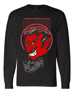 VEXX HELLION LUTHER: MEN'S CHAMPION LONG SLEEVE SHIRT