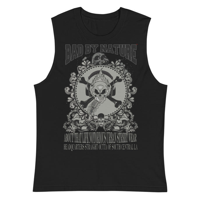 BAD BY NATURE OFFICAL TRADEMARK SOFT, SLEEVELESS MUSCLE TANK T-SHIRT