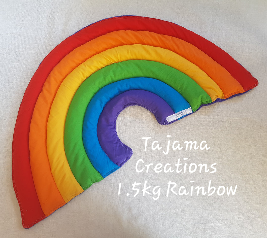 Weighted Rainbow Lap Blanket - Neck Wrap - 1.5kg & 2.5kg Ready to Ship
