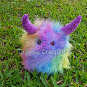 Fluffy Weighted Rainbow Lap Monster
