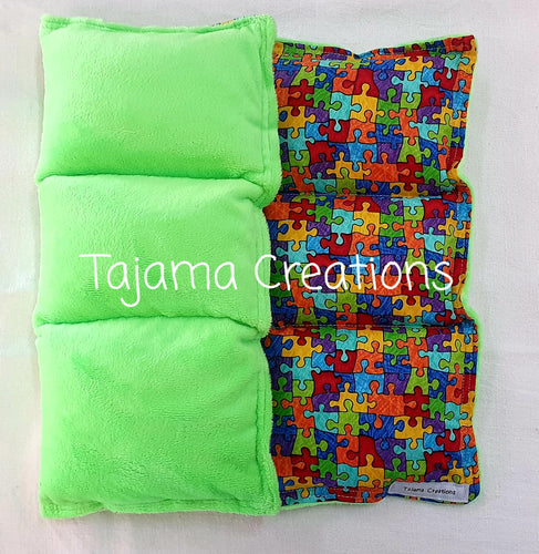 2.5kg Puzzle Small size Weighted Lap Blanket - In Stock