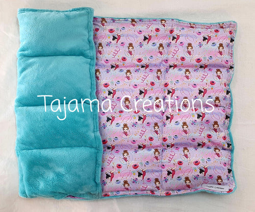 Gymnast & Aqua 2.5kg Weighted Lap Blanket - In Stock