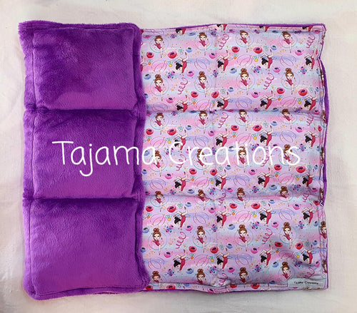 Gymnast on Purple 3.5kg Weighted Lap Blanket