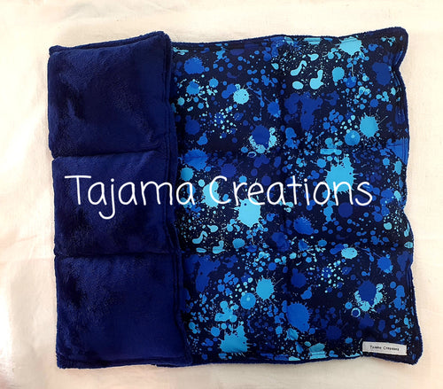 Blue Splatter 4kg Weighted Lap Blanket