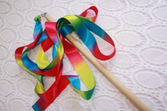 Rainbow Ribbon Wand