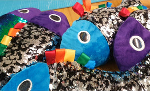 Weighted Lap Fidget Fish - with 2 way Sequins -PRE ORDER ONLY