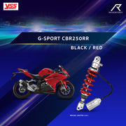 โช้คเดี่ยว S G-SPORT CBR250RR BLACK/RED (MX302-295TRJ-14-J)