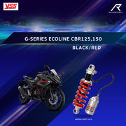 YSS G-SERIES ECOLINE CBR125,150  BLACK / RED (MO302-265T-10-5)