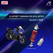 YSS G-SPORT YAMAHA R3,R15,MT03 BLACK/RED (MX302-280TRL-18-859)
