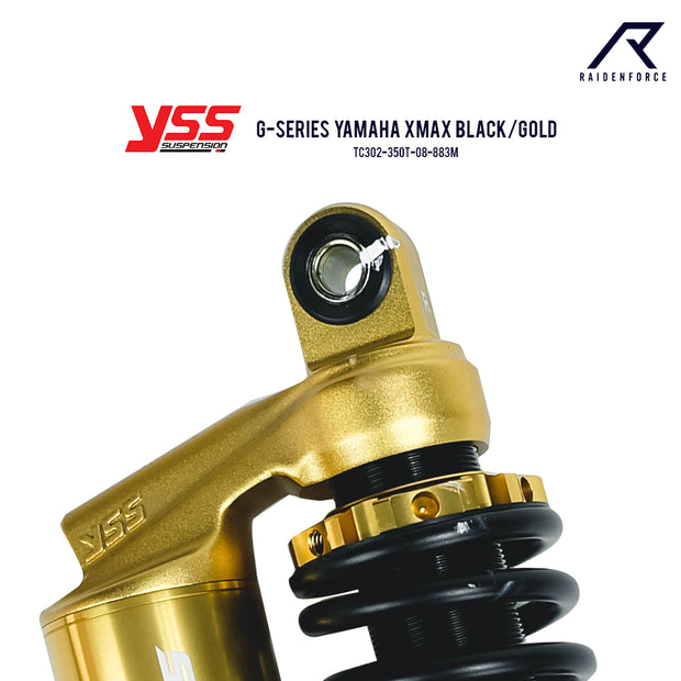 โช้คคู่ YSS G-SERIES YAMAHA XMAX BLACK/GOLD (TC302-350T-08-883M)
